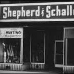 Shepherd & Schaller Sporting Goods, 212 Scott Street, Wausau, WI.  1949. Founded by Allen Shepherd and Stan Schaller.