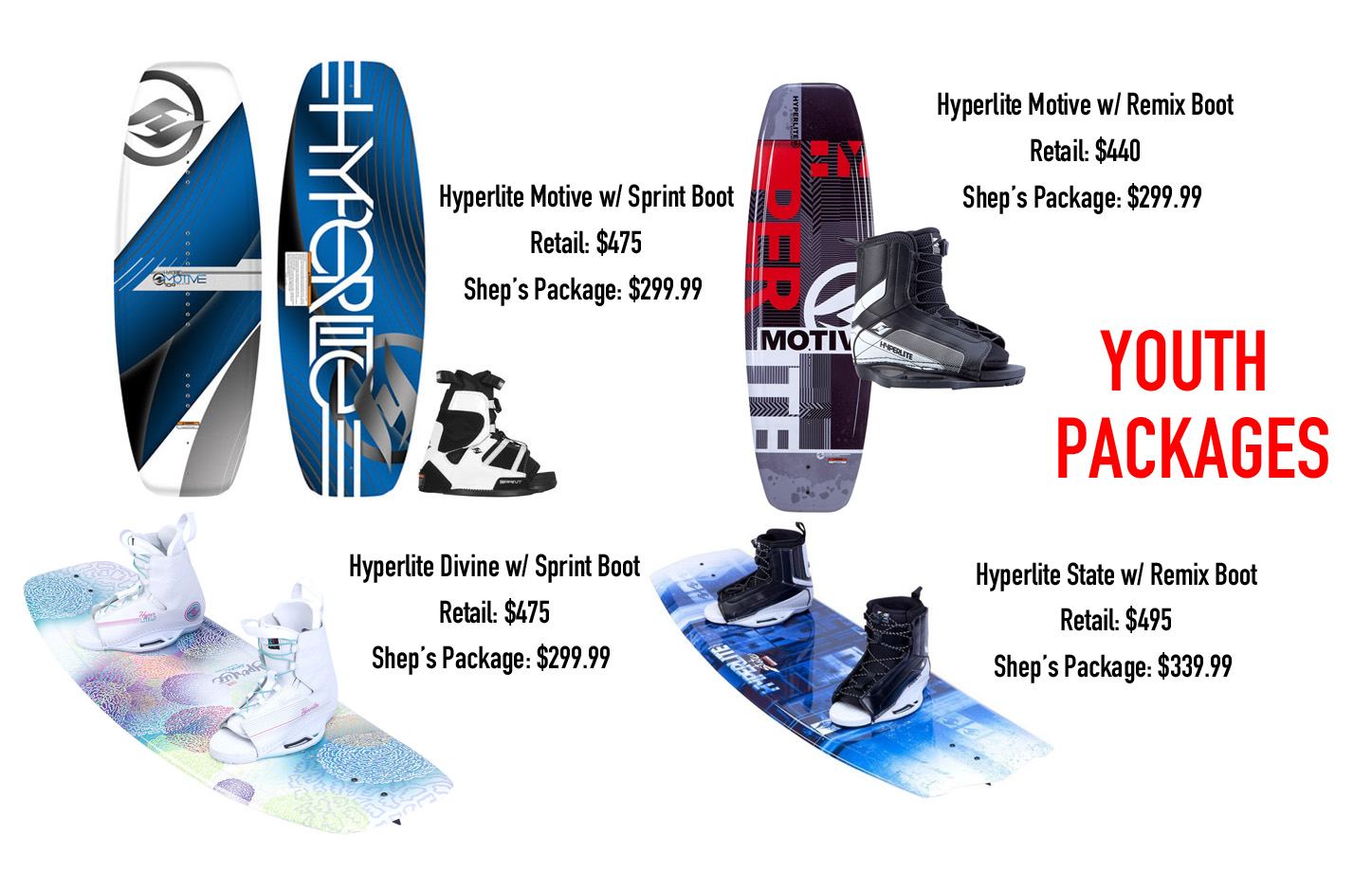 Youth Wakeboard Packages