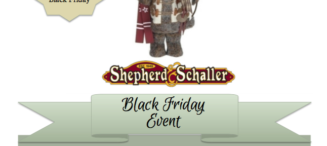 We're Giving You Buck$ Nov 24-Dec 3 at Shepherd & Schaller